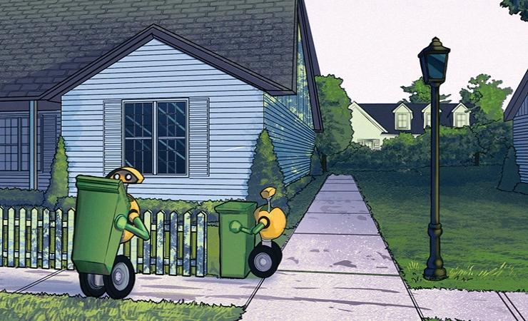 концепция роботов-мусоросборников